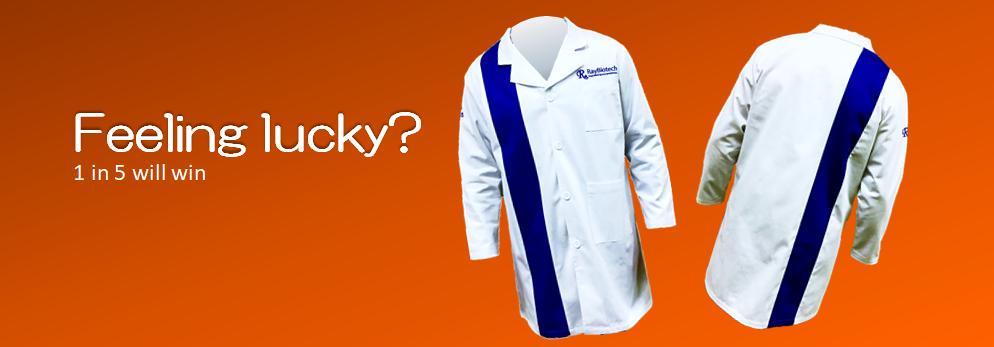 Lab coat giveaway banner