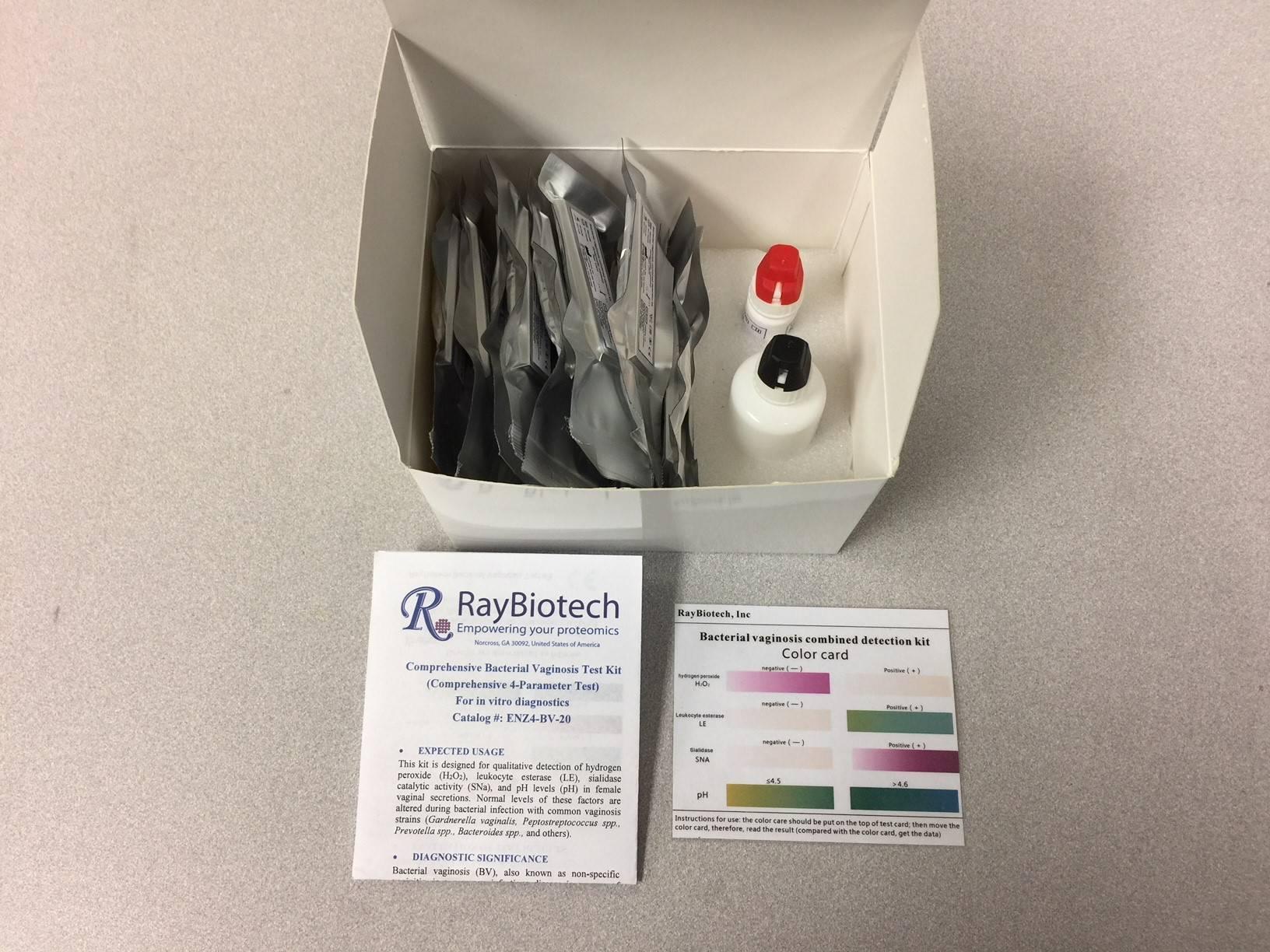 Bacterial Vaginosis Test Kit (Comprehensive 4-Parameter Test) For In Vitro Diagnostics [ENZ4-BV-20]  Bacterial Vagin...